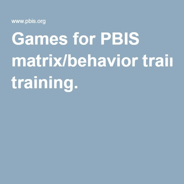 Games for PBIS matrix/behavior training. This website has resources for students and teachers. The information in this website helps students solve problems of bullying and helps teachers and staff develop protocols to support safety at school.