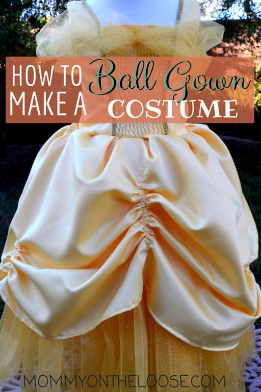 How to make a ball gown princess (Cinderella, Belle, etc) Halloween costume
