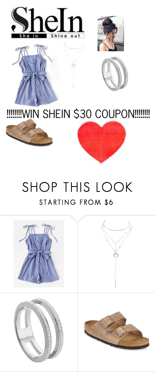 """WIN SHEIN $30 COUPON!!!!"" by torres1373 ❤ liked on Polyvore featuring Charlotte Russe, Monica Vinader, Birkenstock and ban.do"