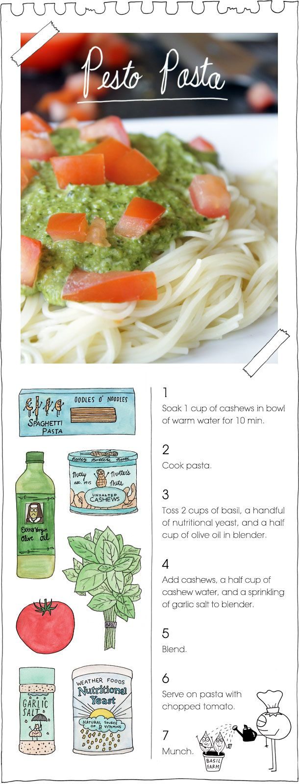 Quick and easy pesto pasta? Um...YES! This recipe from @The Vegan Stoner breaks it down for you step-by-step. All their recipes are made without extensive ingredient lists. Enjoy!