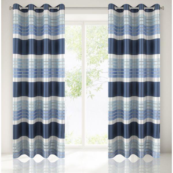 Dekoračné závesy modrej farby do obývačky
