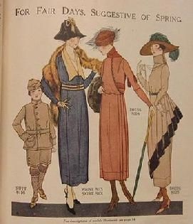 Edwardian Fashion Plate 1918.