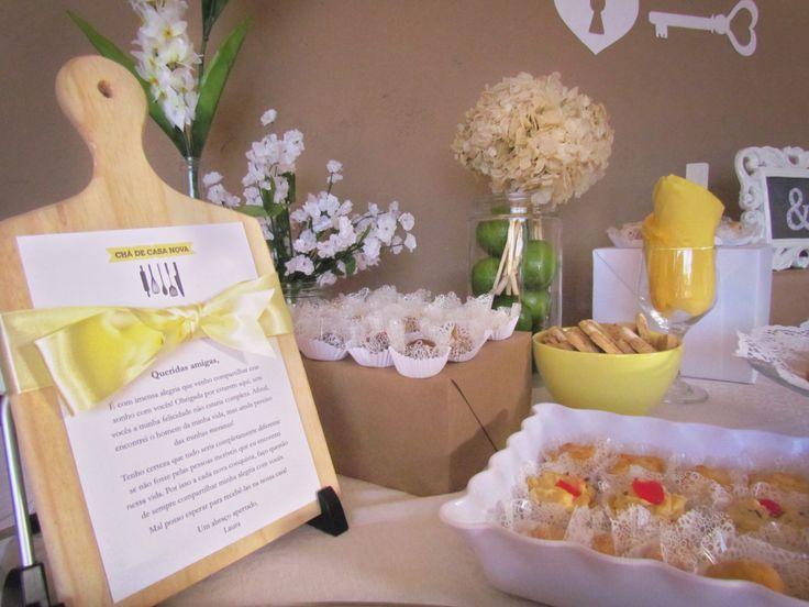 Chá de Casa Nova - Decoração / Bridal Shower Decor / Party Decor / Mensagens para convidadas / Message to guests