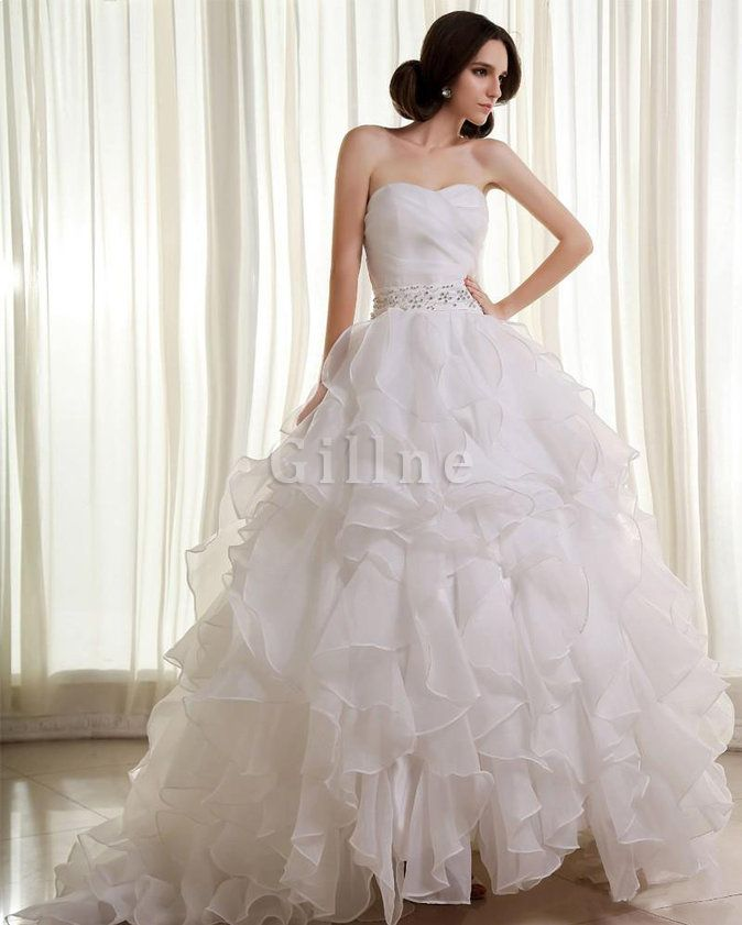32 best Wedding dresses images on Pinterest   Wedding frocks ...