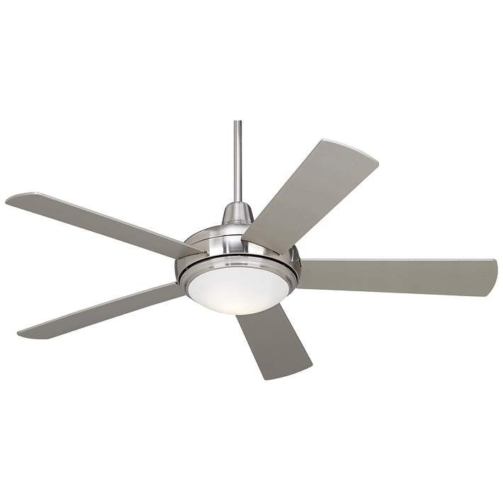 52 Casa Compass Brushed Nickel Led Ceiling Fan 60m84 Lamps
