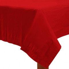 Hold en fantastisk julefest og pynt op med rødt. Vi har mange festartikler i røde nuancer, og har alt fra duge til creperuller på lager. #rød #festartikler #jul #julefest #pynt