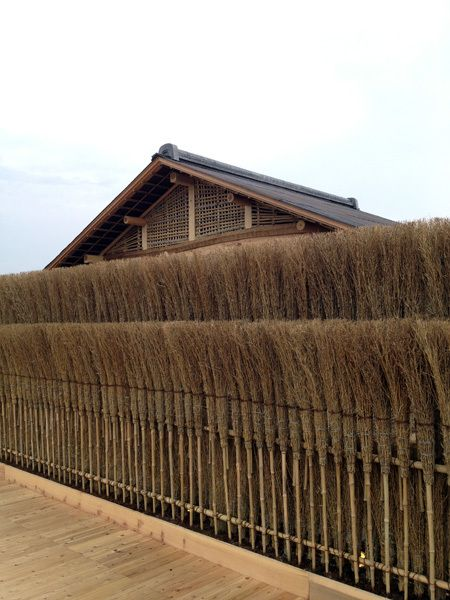 Bamboo broom hedge, designed by Hiroshi Sugimoto