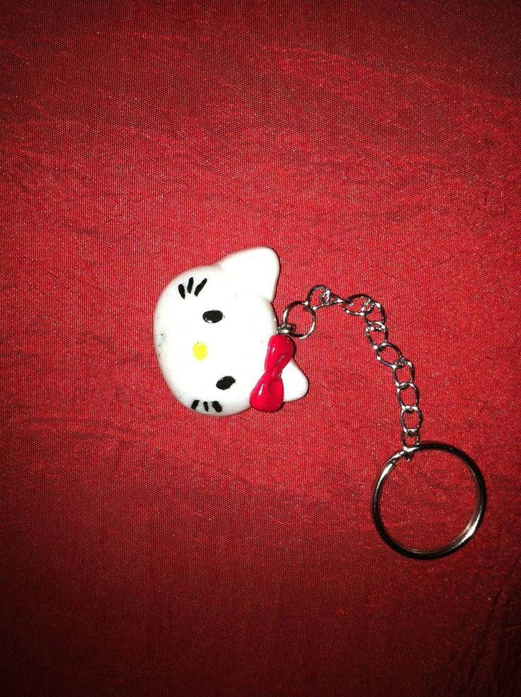 Portachiavi in fimo Hello Kitty