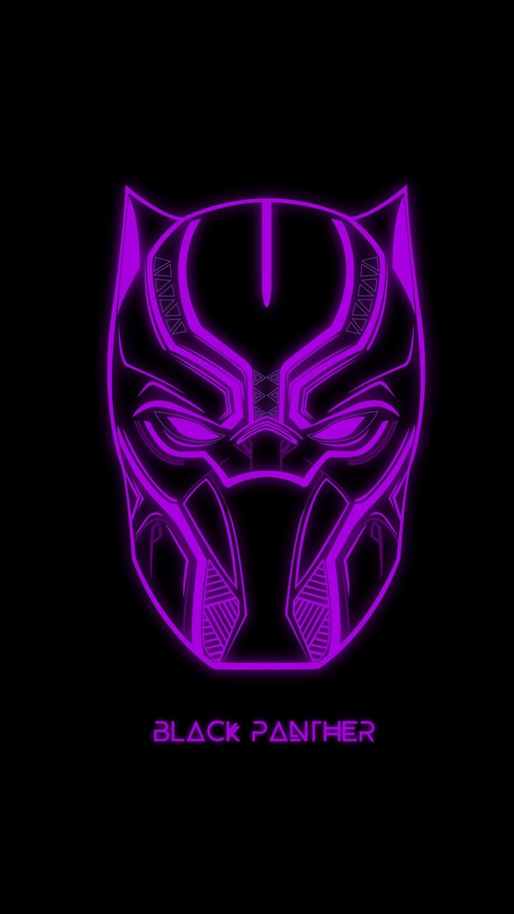 Download 720x1280 Wallpaper Black Panther Glowing Mask Muzzle Art Samsung Galaxy Mini S3 S5 Neo Alpha Sony X Black Panther Marvel Black Panther Panther