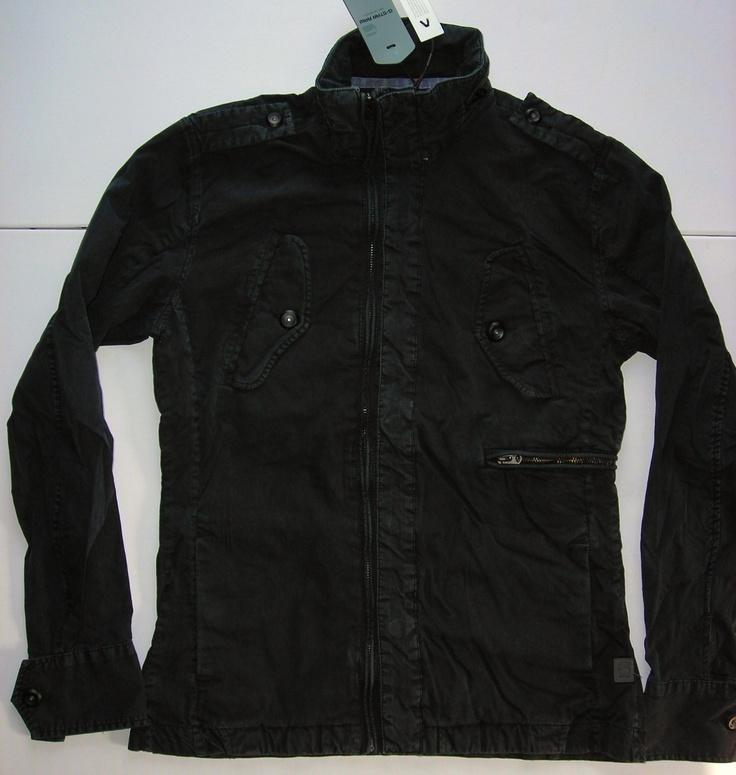 New G Star Raw Estes Overshirt Jacket Black 100 Cotton