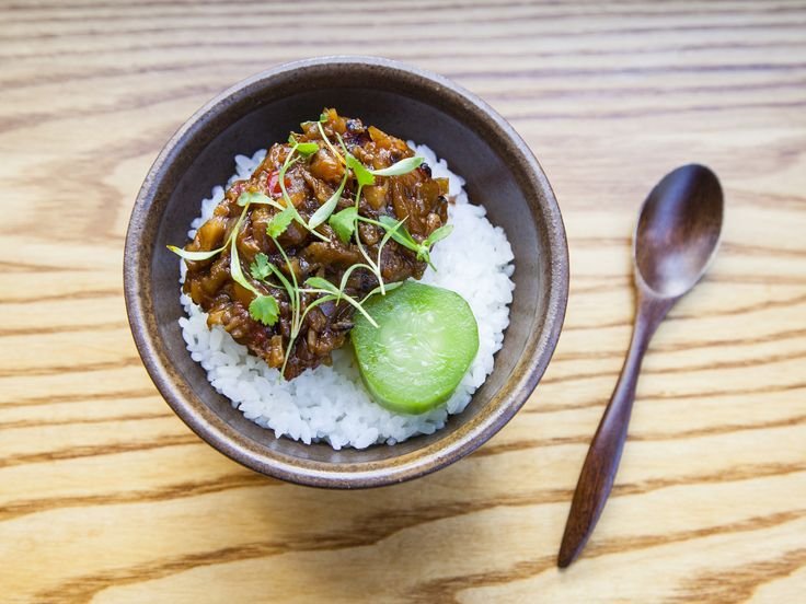 Mapo aubergine rice bowl at Bao Fitzrovia £5