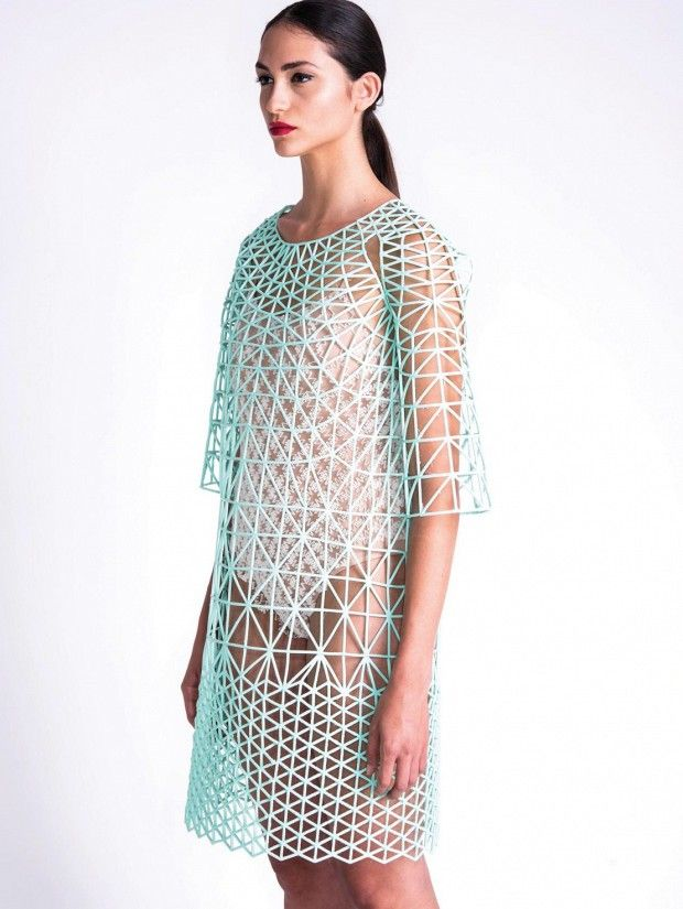Danit Peleg, a 27 year old Israeli #fashion design student #3D printed an entire fashion collection from home!                                                                                                                                                                                 More