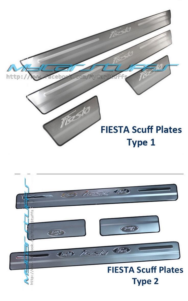 Scuff plates for ford fiesta mk7
