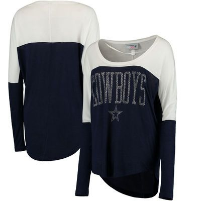 Dallas Cowboys Women's Oversized Poole Long Sleeve Top - Navy