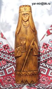 Morana (or Mora, Morena, Marana, Maržana) is a symbol of death and winter in Slavic tradition. She manifests in various shapes; most often as a very pale beautiful girl, with the wolf fangs and claws. Her other shape is such as that of a Baba Yaga, an ugly old witch.
