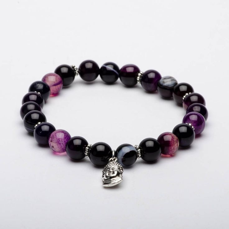 Mala Beads Bracelet Amethyst Gemstones Soul Love
