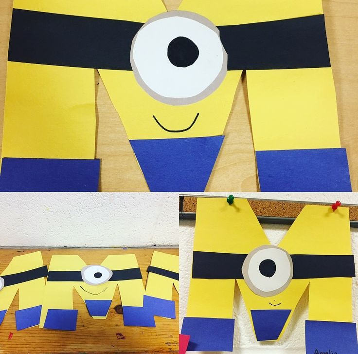 "Minion ""Letter M"" Preschool Craft"