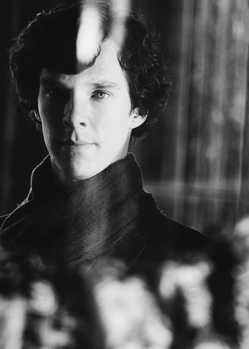 Sherlock. He looks so peaceful <--- inside, his mind is going crazy!