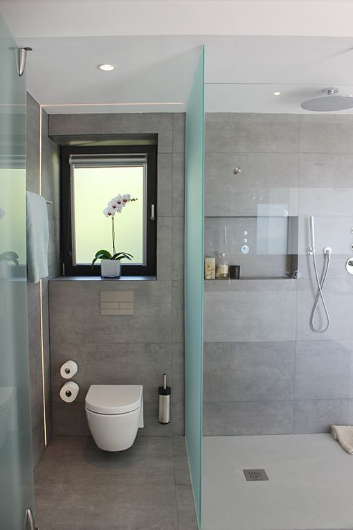 Dormitorio con cuarto de baño integrado: baño con ducha | BAÑOS en ...