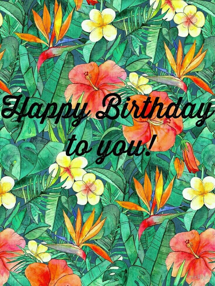 Tropical happy birthday