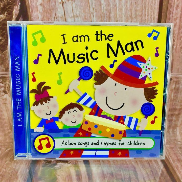 I am the Music Man CD Kids Nursery Rhymes action Songs 21 tracks little stars