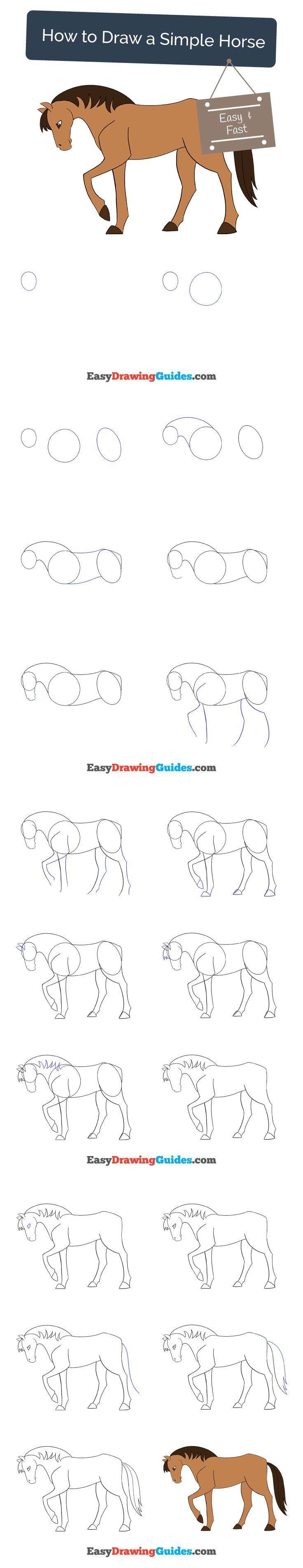 Learn How to Draw a Simple Horse: Easy Step-by-Step ...