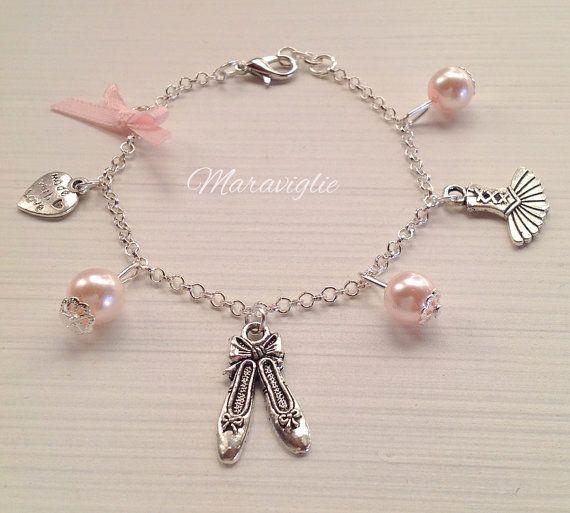 Ballerina di balletto fascino bracciale braccialetto di Maraviglie