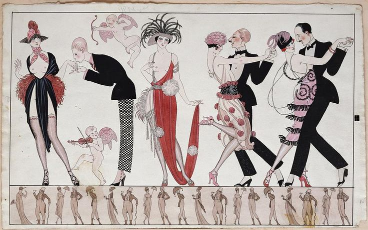 The Tango Painting  - Georges Barbier