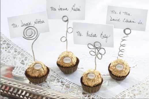 Ideas para invitaciones de boda: Recuerdos de boda con chocolates