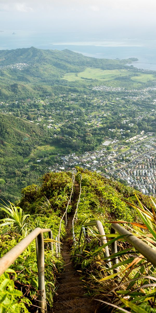 The Haiku Stairs in Oahu, Hawaii