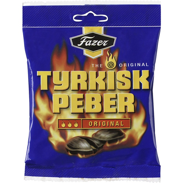 Fazer Tyrkisk Peber Original - hot salmiak and pepper sweets #Swedish  Mums!