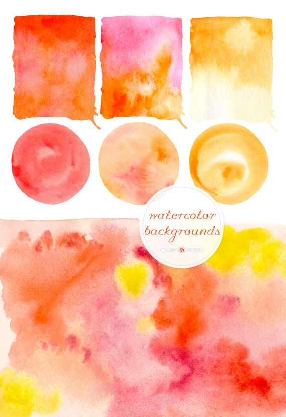 WATERCOLOR BACKGROUNDS for instant download by ankugraphics