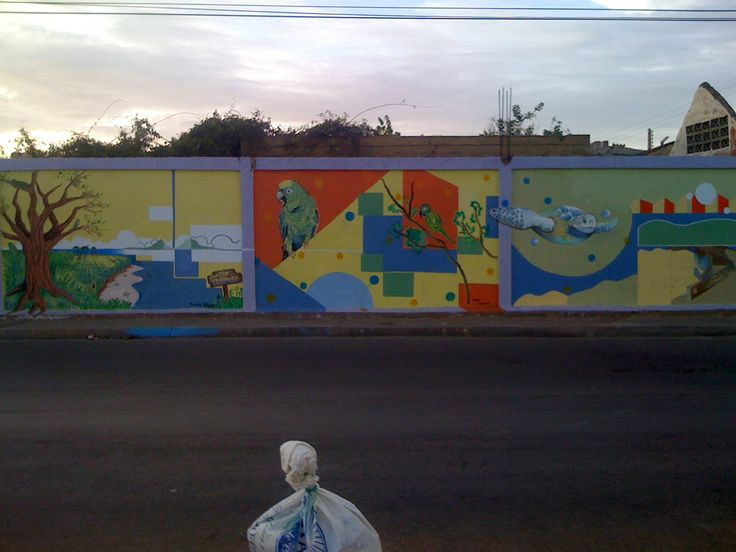 Mural Artistico Para la Comunidad de Boca de Rio Artistas Participantes: Maria Gabriela Narvaez, Yurennis Oliveros, Daniel Guerra