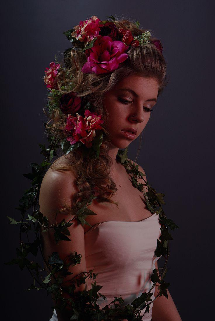 3 x light scheme (red light) Model: Emilia, Style: Ikonnikova Elena, Photoshoot: Zhuchkova Anna. Studio Valoisa. Female portrait.