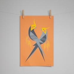 Hand-pulled animal silkscreen prints