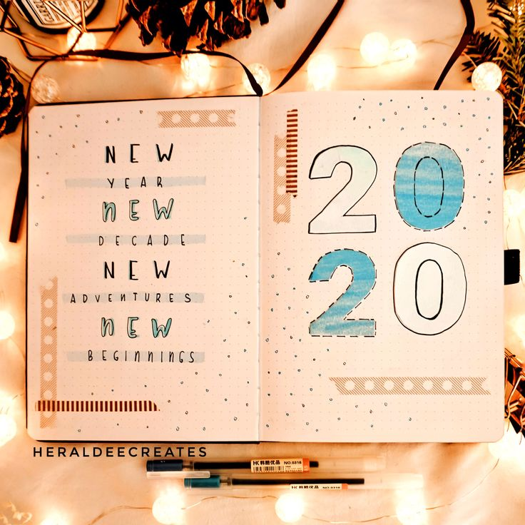 My bullet journal set up for  2020. Easy and Simple designs that you'll surely love. #bulletjournal #2020 #newyear2020