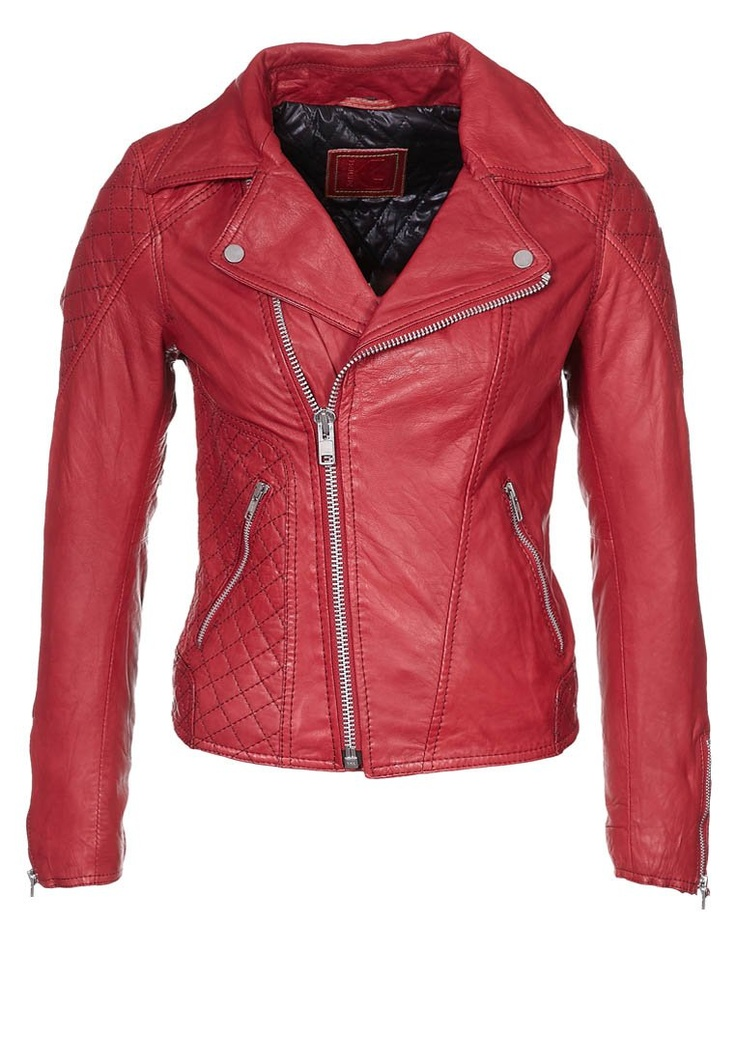 Red Leather Jacket  <3  I want one like this so bad I can't stand it!!!