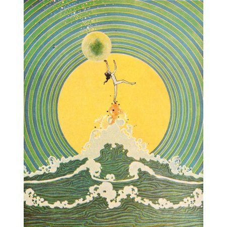 Dream Boats & Other Stories 1920 Songs inside the bubbles Canvas Art - DS Walker (18 x 24)