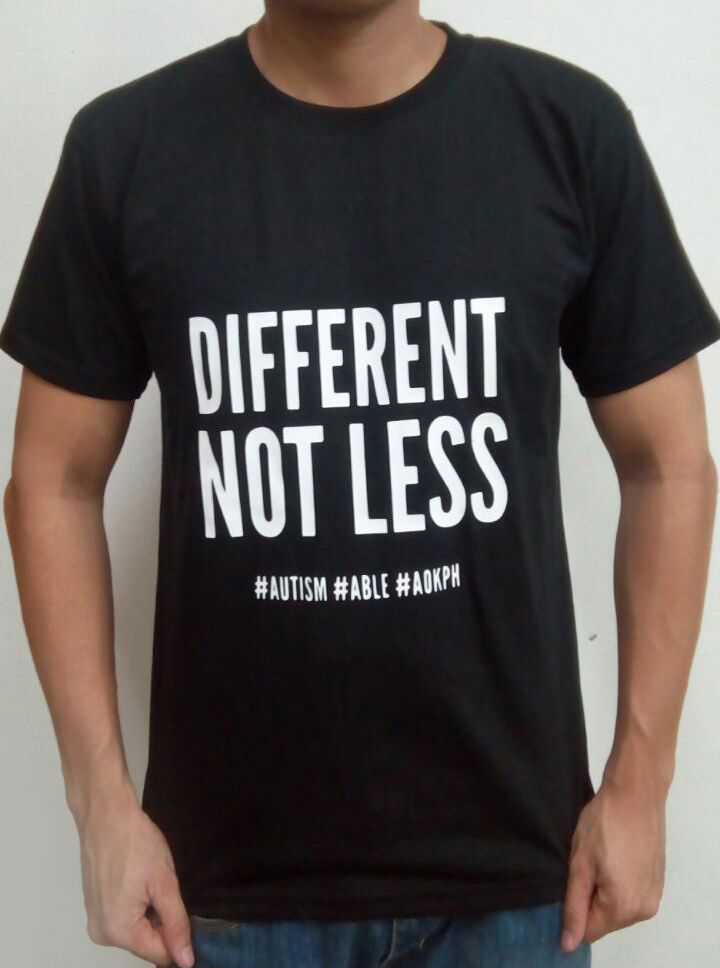 "This cotton shirts bear ASP's ""Hugot"" lines which celebrate life on the autism spectrum.  Eustacia Cutler, Temple Grandin's mom, was a pioneering advocate who taught her daughter what autism truly is.    Order this item at: https://autismall.myshopify.com/collections/t-shirts/products/shirt-different-not-less"