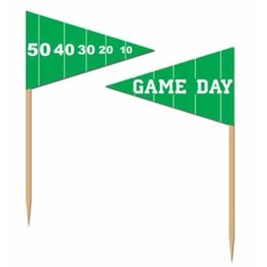 """Football Game Day Picks.  What's a tailgate party without the food! Party picks are a great addition on game day  Contains 50 pieces - 2.5"""" (6 cm)"""
