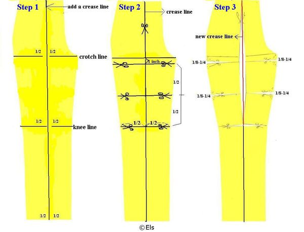 Pants pattern alteration « THE SEWING DIVAS sewing, design, fashion