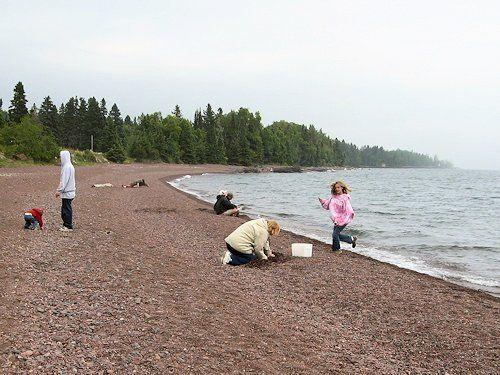 hunting lake superior agates at Paradise Beach