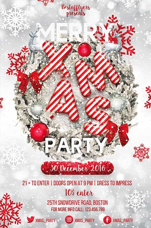 Merry X-Mas Party Flyer Template - http://freepsdflyer.com/merry-x-mas-party-flyer-template/ Enjoy downloading the Merry X-Mas Party Flyer Template created by Bestofflyers!   #Bash, #Christmas, #Club, #Dance, #Dj, #Nightclub, #Party, #Xmas