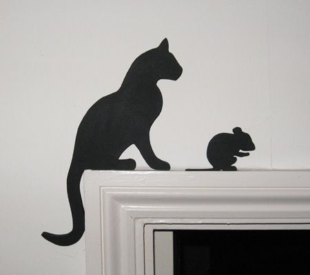 Cat And Grooming Mouse Door Topper Cats Scroll Saw