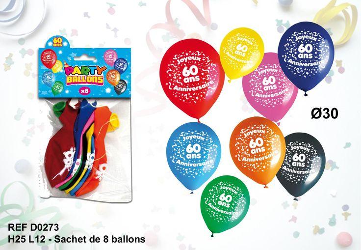 Ballons+anniversaire+60+ans