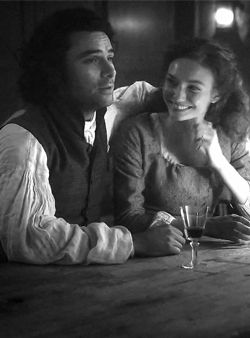 """panoramamelodrama: """" panoramamelodrama: """"Aidan Turner :  Eleanor and I work very well together. I don't think you can create that chemistry – you either have it or you don't. It was just right..."""