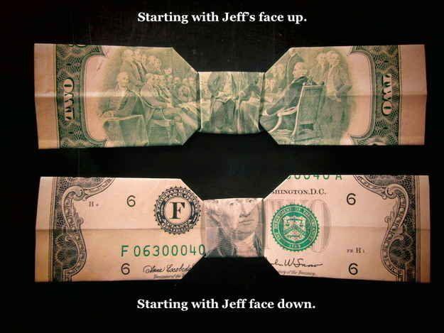 Turn any bill into a super dapper bow tie.