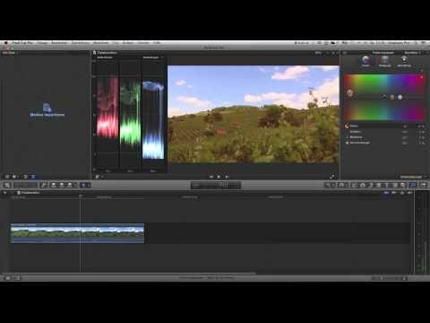 ▶ Final Cut Pro X Farbkorrektur Tutorial Color Correction - YouTube