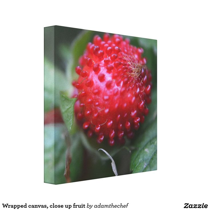 Wrapped canvas, close up fruit stretched canvas print