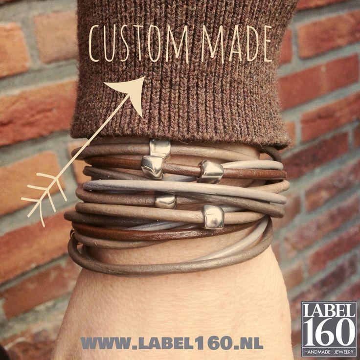 Wikkelarmband met magneetsluiting #label160 #handmade #sieraden #leer #stoer #armband #armbanden #jewelry #bracelet